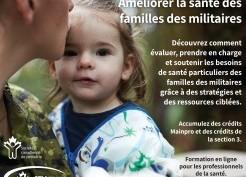Améliorer la santé des familles des militaires